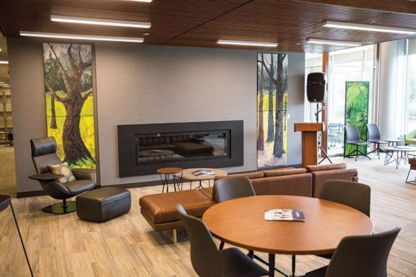 "The department's main collaborative area, dubbed ""Central Park."" [Photo: Dustin Johnston]"