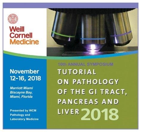 weill cornell tutorial on pathology Nov 12-16 2018