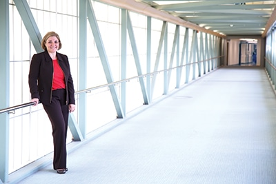 """Dr. Jennifer Hunt at UAMS. Finding a work- life balance may not be a useful concept, in her view, because it implies separating them. """"Our work and our lives are intertwined,"""" she says. """"We should be thinking about work-life integration."""""""